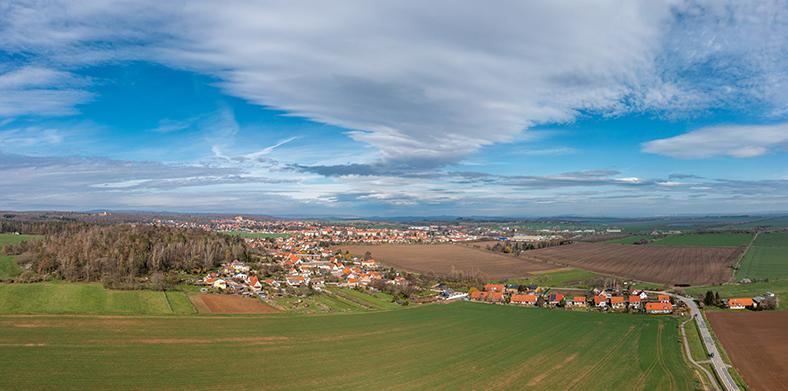 Landschaftsaufnahme von Ballenstedt